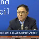 Quảng Châu, Trung Quốc bất ngờ ngưng tiêm vaccine