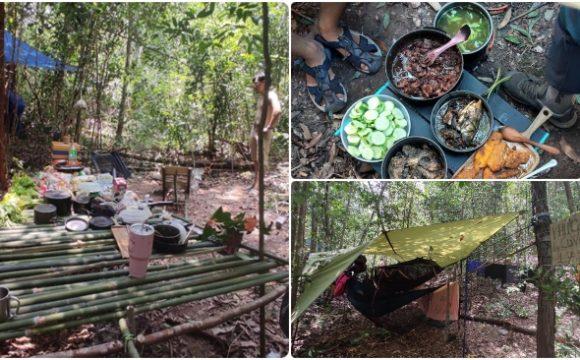 Địa điểm dựng trại của nhóm trong Núi Dinh.