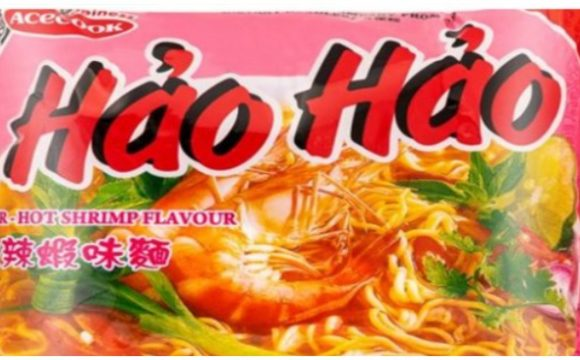 Mì tôm chua cay Hảo Hảo bị thu hồi do chứa Ethlene Oxide (ảnh: FSAI).