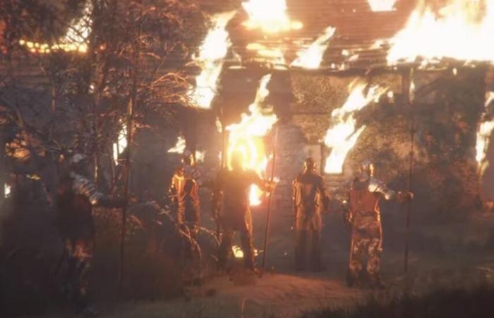 Tất cả ngôi làng bị cháy chỉ trừ lại quán của người đàn ông hay làm việc thiện: ẢNH : Internet